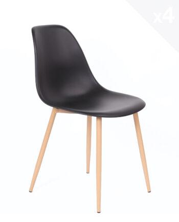 lot-4-chaises-scandinaves-Nova-cuisine-salle-manger-noir