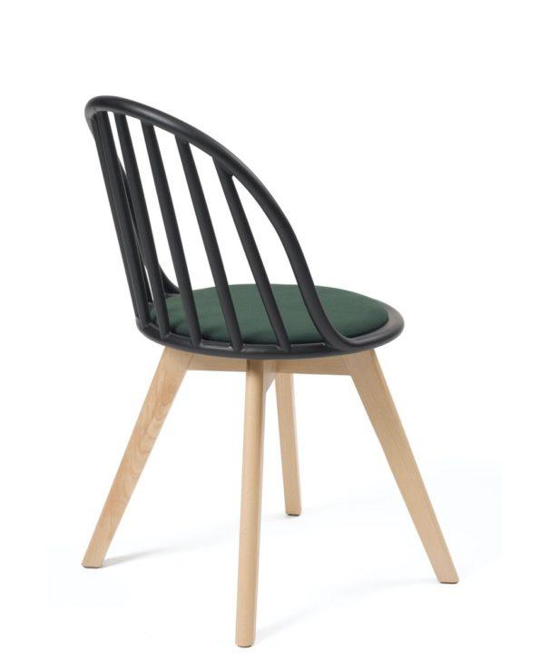 chaise-nordique-scandinave-noir-vert-coussin