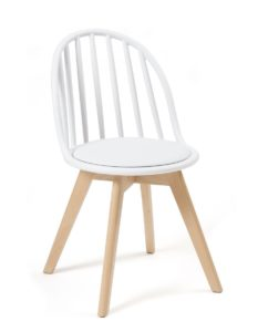Chaise Scandinave Windsor - Coussin - Bold - Chaise bistrot - Blanc