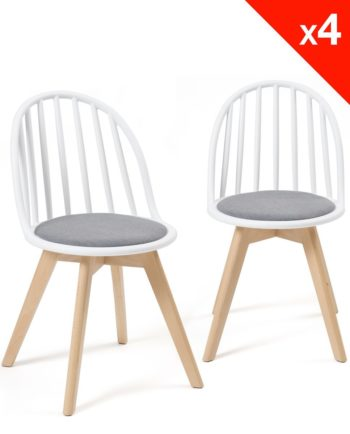 Chaises ScandinChaises Scandinaves Bistrot - Coussin - Bold style Windsor - Blanc grisaves Bistrot - Coussin - Bold style Windsor - Balnc gris
