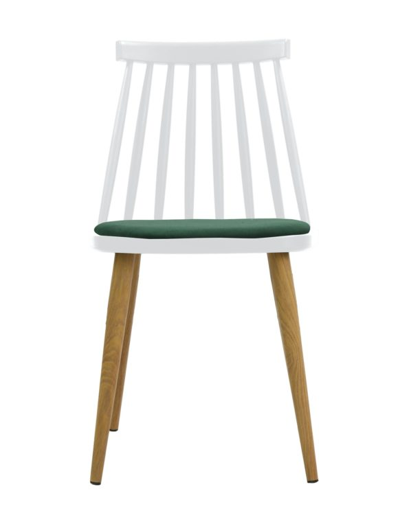 chaise scandinave MODA - Kayelles chaises bistrot blanc et vert