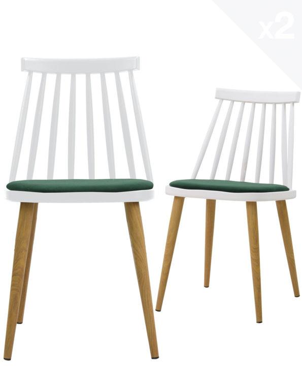 lot-2-chaises-windsor-MODA-scandinave-coussin-blanc-vert