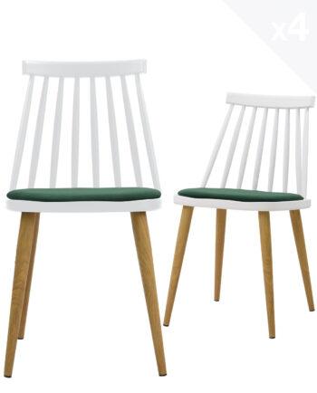 lot-4-chaises-windsor-MODA-scandinave-coussin-blanc-vert