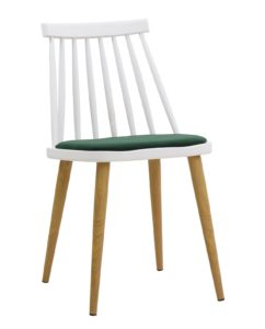 Chaise Windsor scandinave - kayelles - blanc et vert