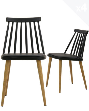 lot-4-chaises-windsor-MODA-scandinave-coussin-noir
