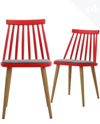 lot-4-chaises-windsor-MODA-scandinave-coussin-rouge-gris