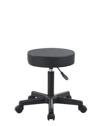Tabouret à roulettes pour le bureau, atelier - pivotant a 360 - reglable en hauteur