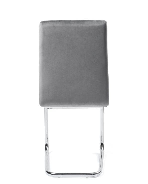 lot-4-chaises-salle-a-manger-chrome-velour-gris
