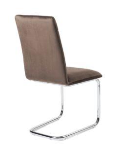 lot-4-chaises-salle-manger-pas-cher-velours-marron