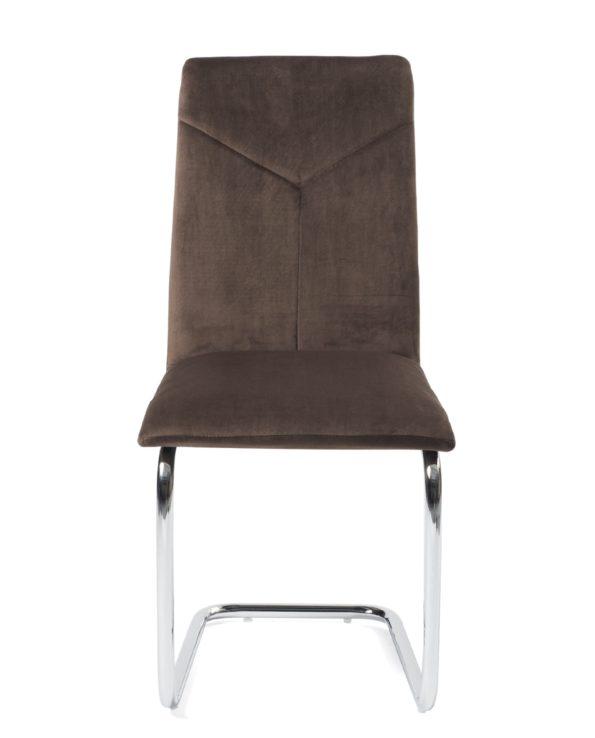 lot-de-4-chaises-salle-a-manger-velours-marron-tana-kayelles