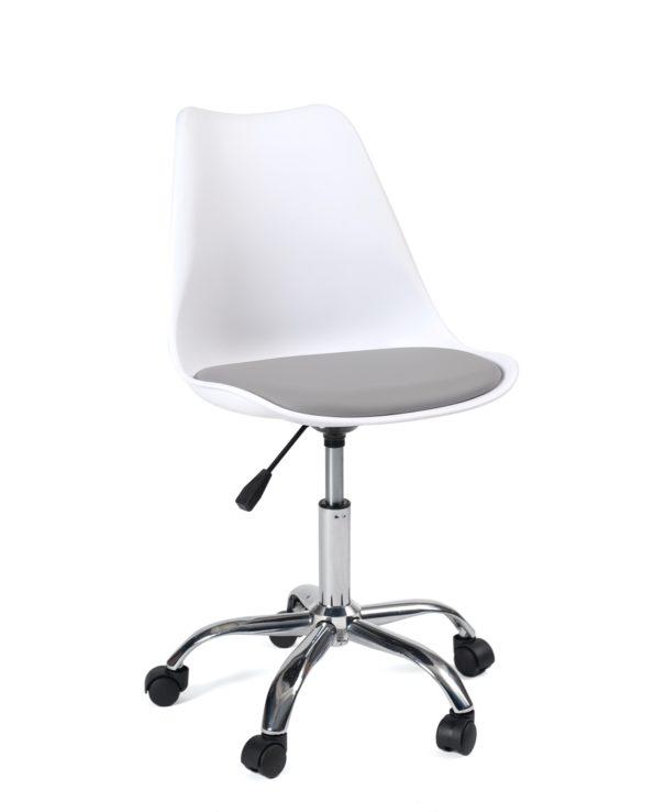 chaise-bureau-design-roulettes-pas-cher-blanc-gris-leo