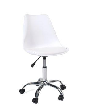 chaise-bureau-design-roulettes-pas-cher-blanc-leo