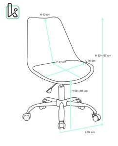 chaise-bureau-roulette-design-LEO-kayelles