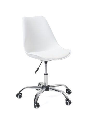 Chaise de bureau à ROulettes - Ergonomique et réglable - Blanc