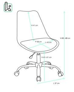 chaise-bureau-roulettes-ergonomique-reglable-leo-kayelles