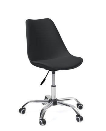 Chaise de bureau à ROulettes - Ergonomique et réglable - Noir