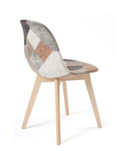 chaise-scandinave-salle-a-manger-cuisine-patchwork-marron-bois