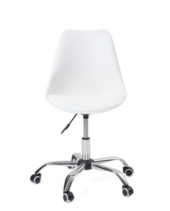 Fauteuil de bureau à roulettes - Ergonomique - Blanc - Kaylles