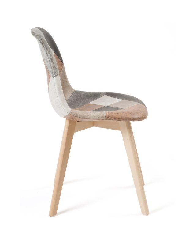 kayelles-chaise-patchwork-marron-salle-a-manger-pietement-bois