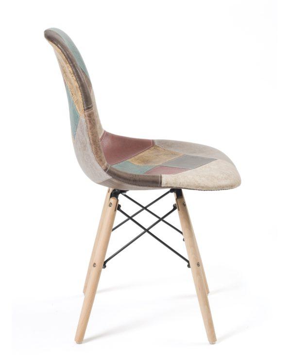 kayelles-nadir-chaise-patchwork-marron-dsw