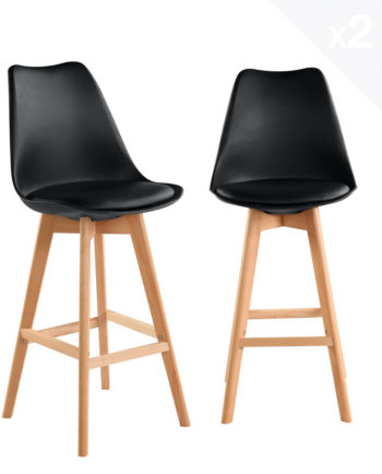 lot-2-tabourets-bar-scandinave-noir