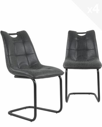 lot-4-chaises-salle-a-manger-design-POSH-noir