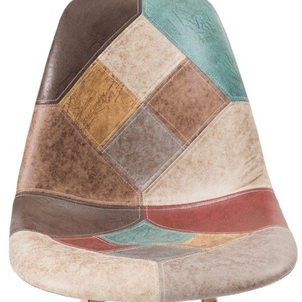 nadir-chaise-patchwork-cuir-marron-details