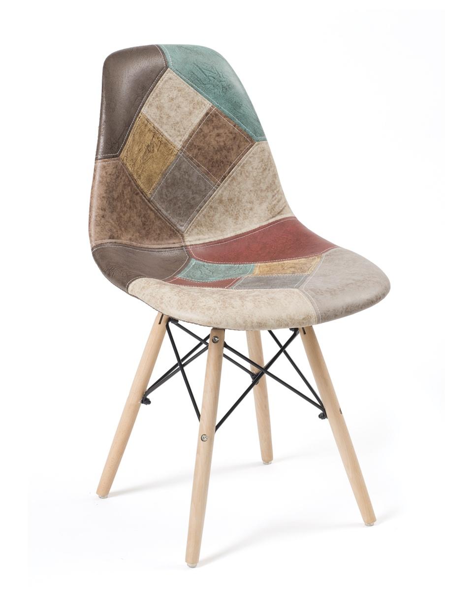 Chaises Patchwork scandinave design NADIR - Lot de 6