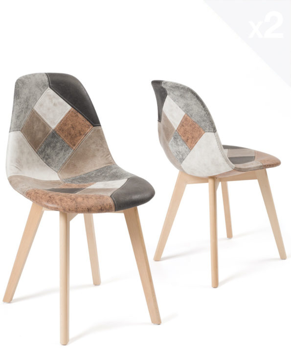 lot-2-chaises-patchwork-marron-scandinaves-salle-manger-cuisine