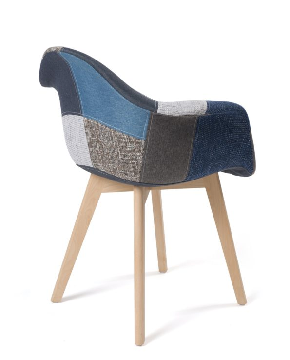 lot-2-chaises-scandinaves-patchwork-DAW-bleu-kayelles