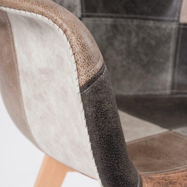 lot-2-fauteuils-scandinaves-patchwork-DAW-marron