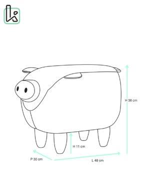 Tabouret-pouf-Cochon-ottoman-enfant-Bois-BOB