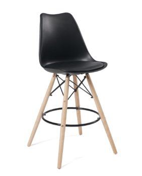chaise-bar-scandinave-coussin-noir