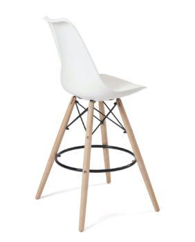 lot de 2 chaises de bar - style scandinave - ilot cuisine- blanc