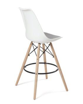 lot de 2 chaises de bar - style scandinave - ilot cuisine- blanc gris