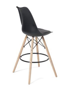 lot de 2 chaises de bar - style scandinave - ilot cuisine - noir