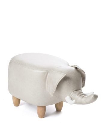 Pouf, tabouret, Ottoman Enfant - Elephant Beige - Bois kayelles