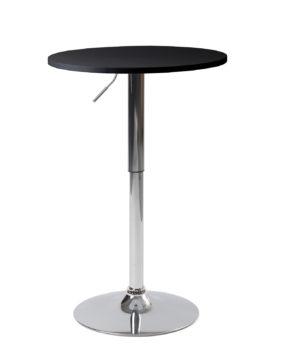 Table de bar haute - Mange debout réglable en hauteur - Noir - Diametre 60cm - Kayelles