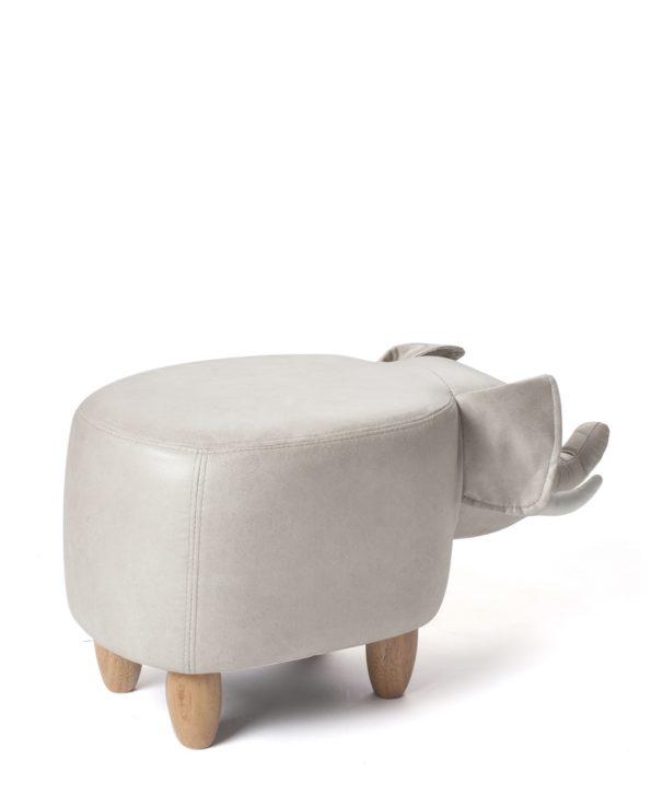 Tabouret chambre enfant - Ottoman, pouf elephnat Beige - CLINT