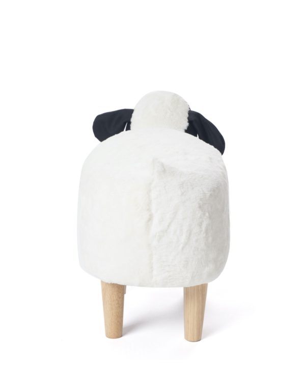 Tabouret chambre enfant - Pouf Ottoman - Mouton Noir Blanc