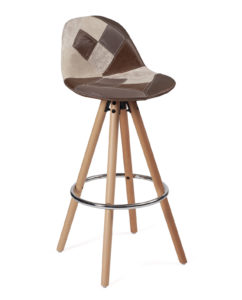 chaise-haute-patchwork-marron-kayelles
