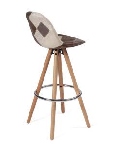 lot-2-chaises-hautes-scandinave-marron-patch-kayelles