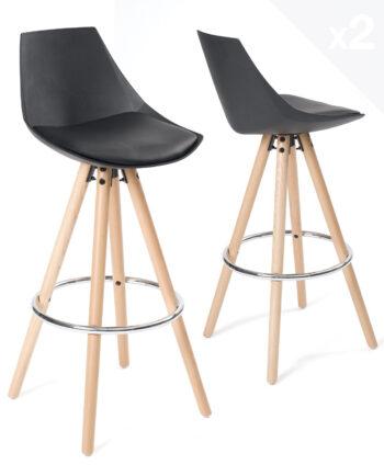 tabouret-de-bar-design-bois-noir-coussin-kayelles-soto