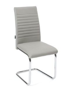 chaise-salle-manger-lot-4-design-OPUS-gris-chrome