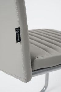 Chaise salle à manger - Lot de 4 - OPUS - chaise cantilever GRIS