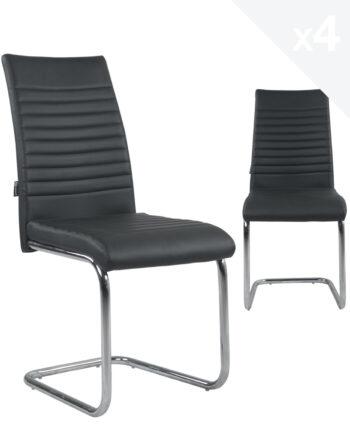 chaises-salle-manger-lot-4-OPUS-Noir