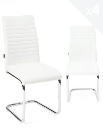 chaises-salle-manger-lot-4-OPUS-blanc