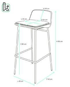 chaise-bar-design-cuisine-coussin-amovible-metal-bama