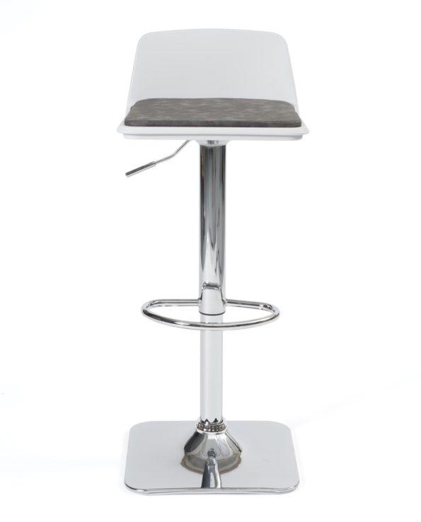 Chaise de bar Design, cuisine, coussin amovible - BOBA - Kayelles - Gris