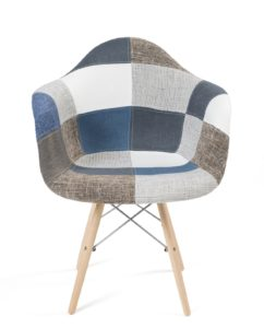 chaise DAW patchwork bleu lot 2 - kayelles